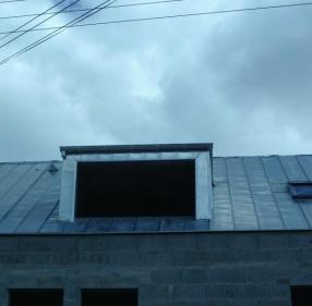 Couverture en zinc, pente à 45°