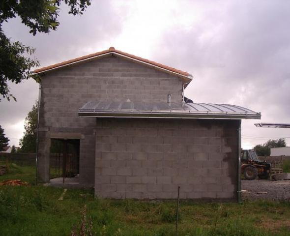 Couverture zinc cintré